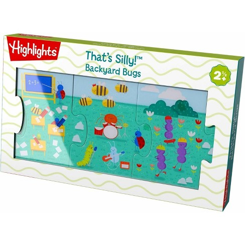 Highlights by HABA - That's Silly! Backyard Bugs 9 Piece Floor Puzzle - image 1 of 4