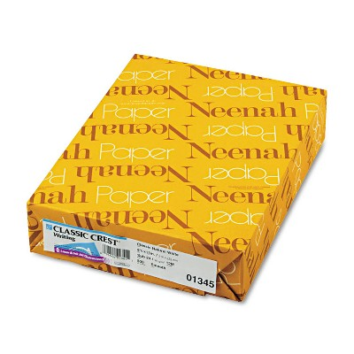 Neenah Paper CLASSIC CREST Writing Paper 24lb 8 1/2 x 11 Natural White 500 Sheets 01345