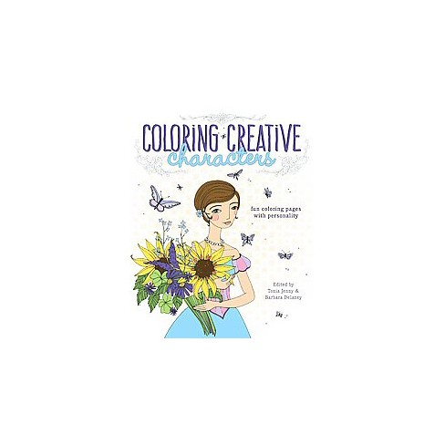 Coloring Creative Characters Adult Coloring Book: Fun Coloring Pages ...