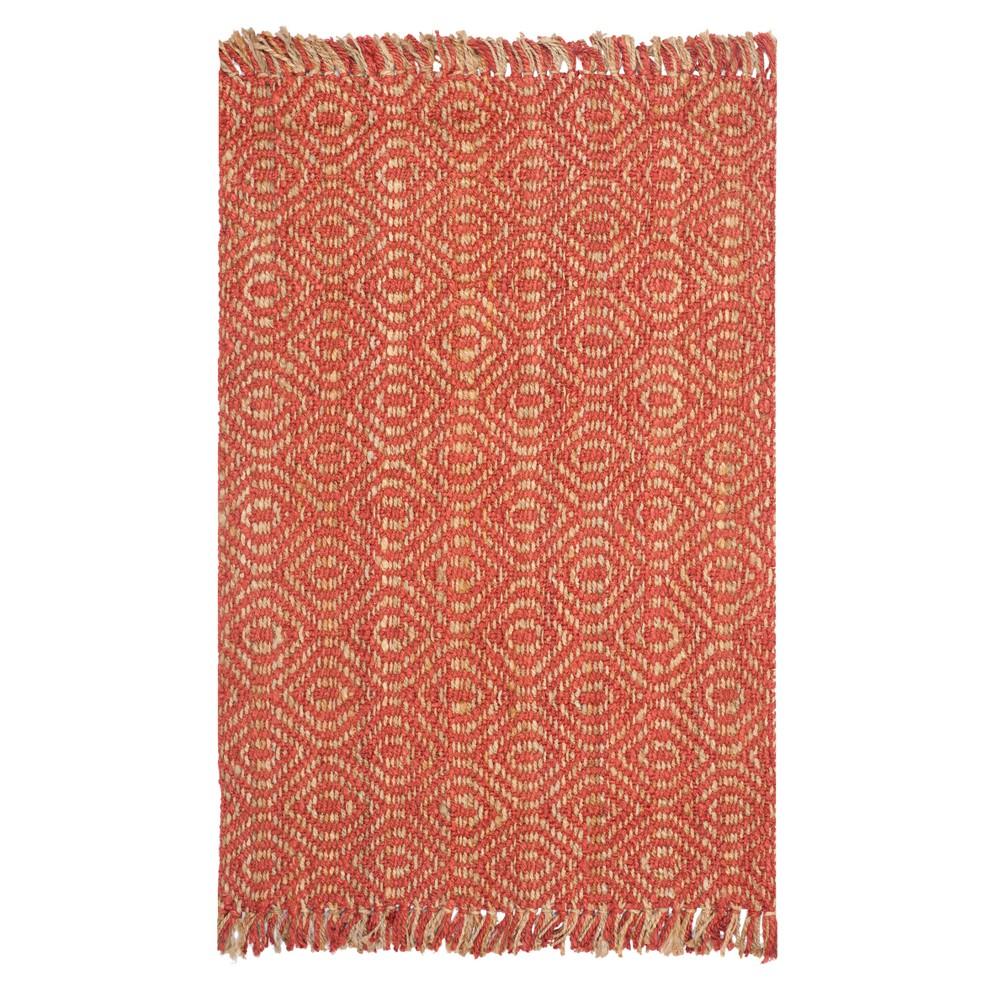 Rust (Red) Geometric Woven Area Rug 5'X8' - Safavieh