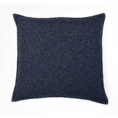 "2pk 20""x20"" Oversize Chunky Square Throw Pillows Indigo - Décor Therapy"