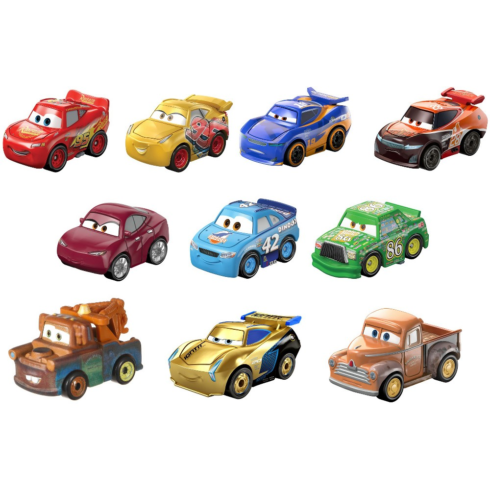 Disney Pixar Cars Mini Racers Diecast 10pk