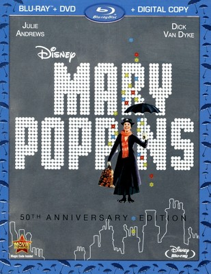 Mary Poppins [50th Anniversary Edition] [2 Discs] [Includes Digital Copy] [Blu-ray/DVD]