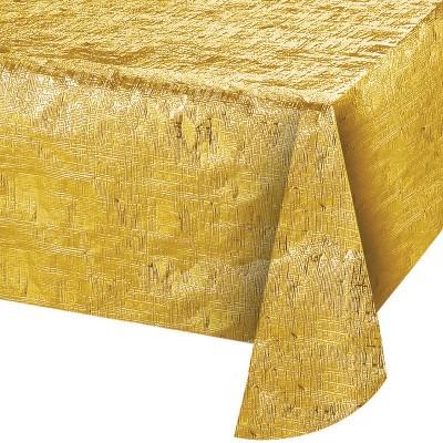 Gold Metallic Gold Tablecloth