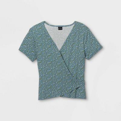 Girls' Wrap Short Sleeve Top - art class™
