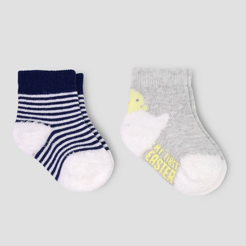 4110a9d7f Baby Boys  Easter Crew Socks - Just One You® Made By Carter s Gray ...