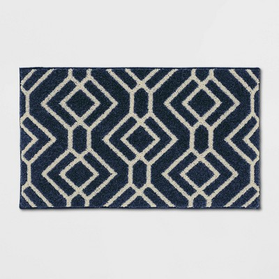 "20""X34"" Carthage Geo Easy Care Rug Blue - Threshold™"