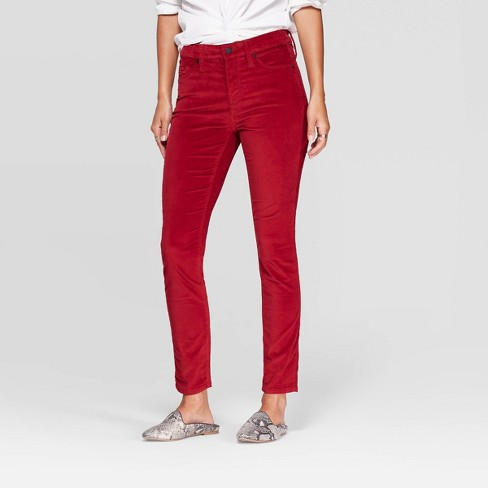 Women's Velvet High-Rise Ankle Skinny Jeans - Universal Thread™ - image 1 of 4