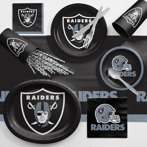 NFL Black And Gray Oakland Raiders Ultimate Fan Party Supplies Kit - image 1 of 1