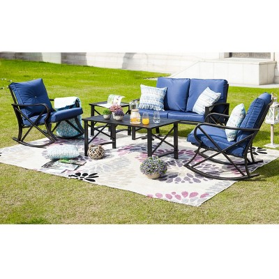 5pc Patio Seating Set Blue - Patio Festival