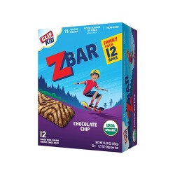 CLIF Kid ZBAR Organic Chocolate Chip Energy Bars- 12ct