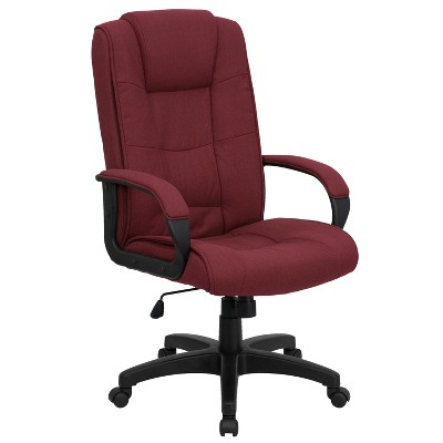 Flash Furniture High Back Multi-Line Stitch Upholstered Executive Swivel Office Chair with Arms