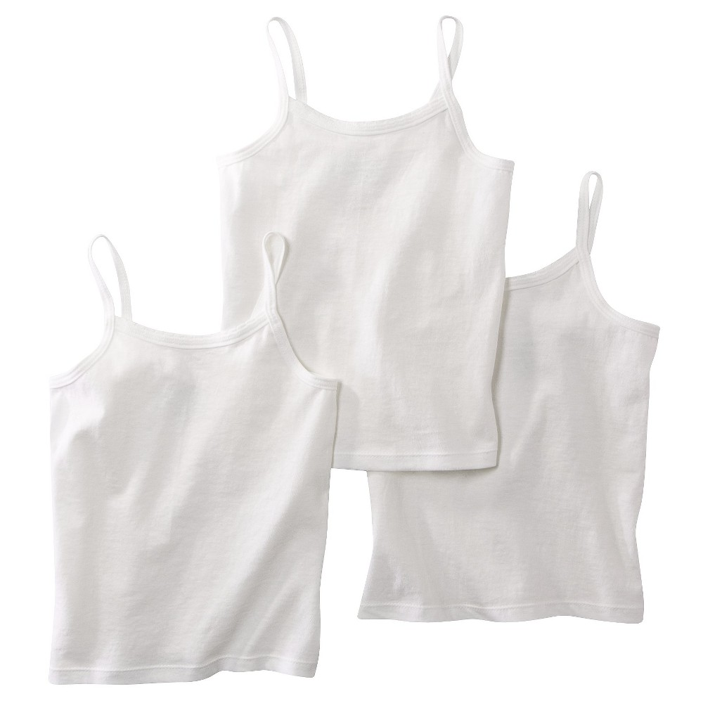 Hanes Toddler Girls' 3pk Cami - White 2T-3T, Size: 2T