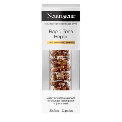 Neutrogena Rapid Tone Repair Vitamin C Serum Capsules - 30ct - image 1 of 4