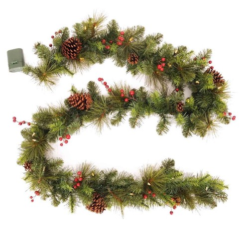 Philips 9 Christmas Prelit White Led Decorated Artificial Pine Garland