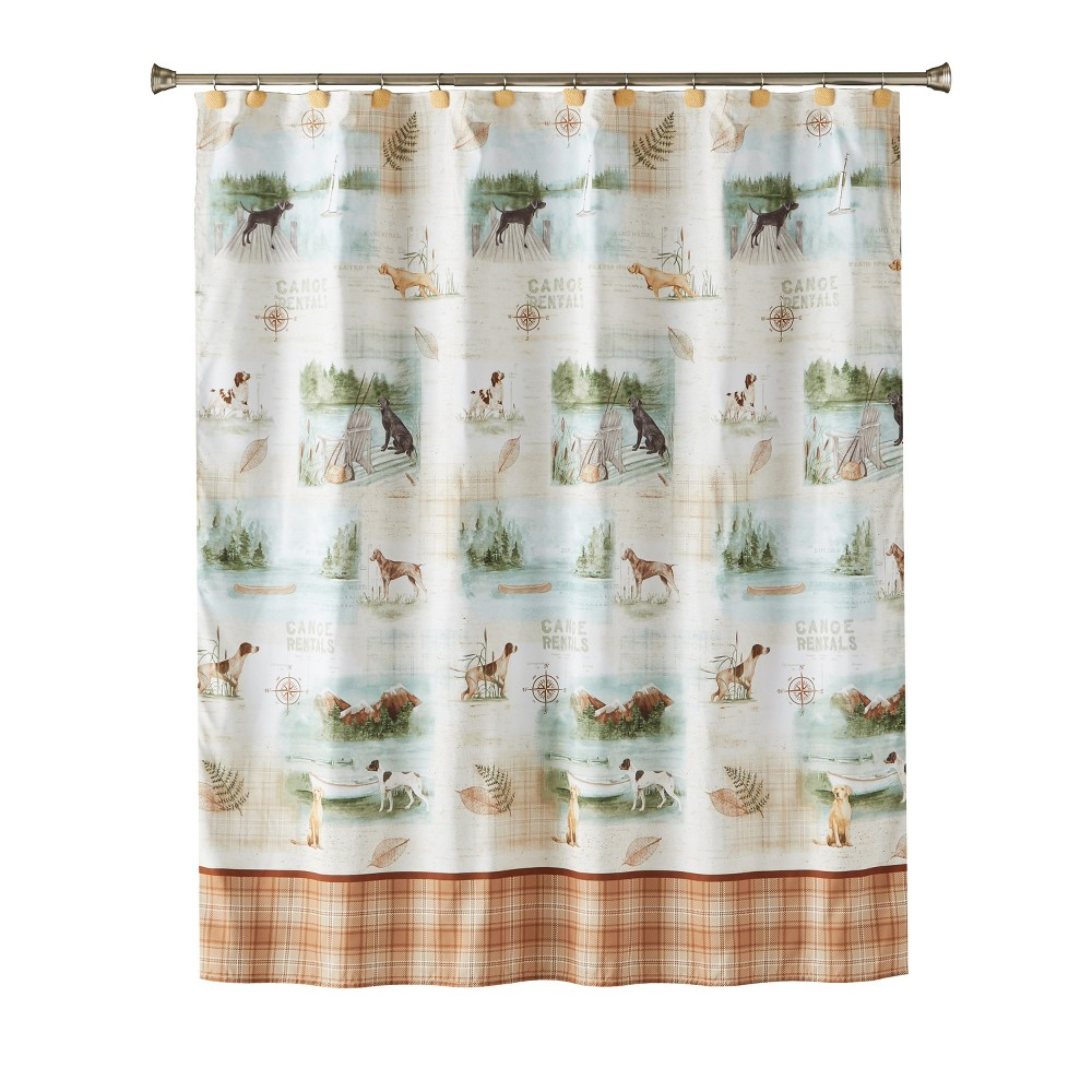 Image of Adirondack Dogs Shower Curtain Multi - Colored - Saturday Knight Ltd., Multi-Colored