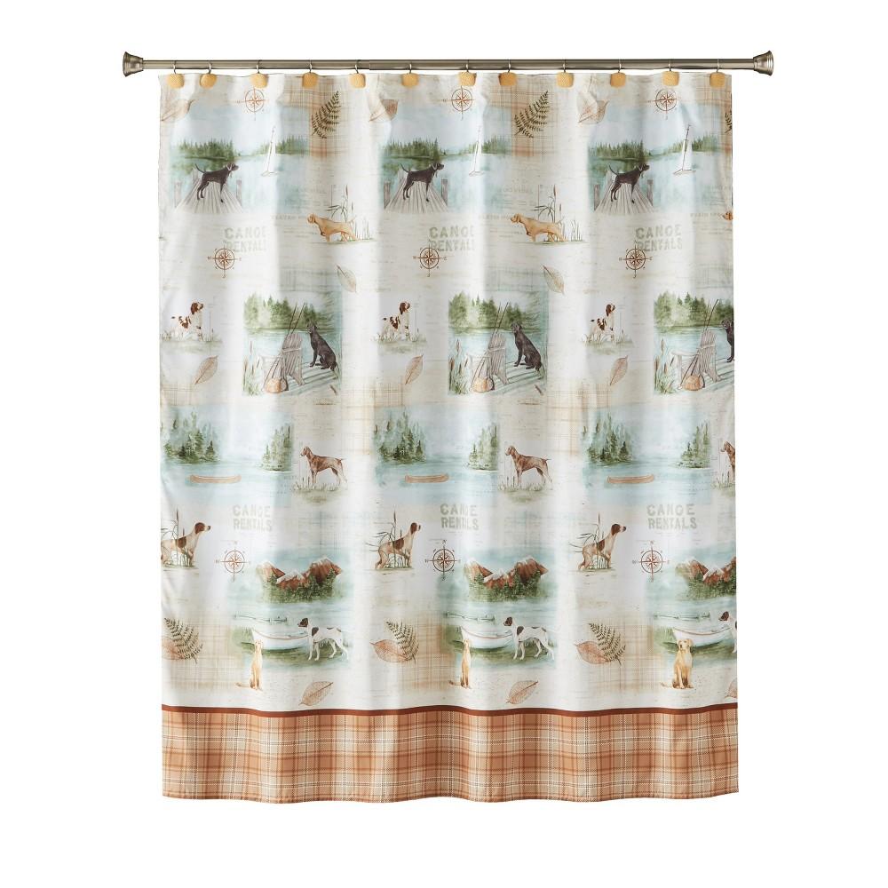 Image of Adirondack Dogs Shower Curtain Multi - Colored - Saturday Knight Ltd.