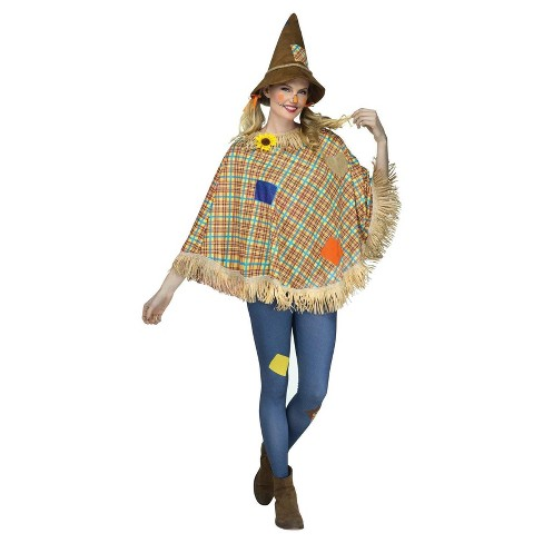 Adult Scarecrow Poncho - image 1 of 1