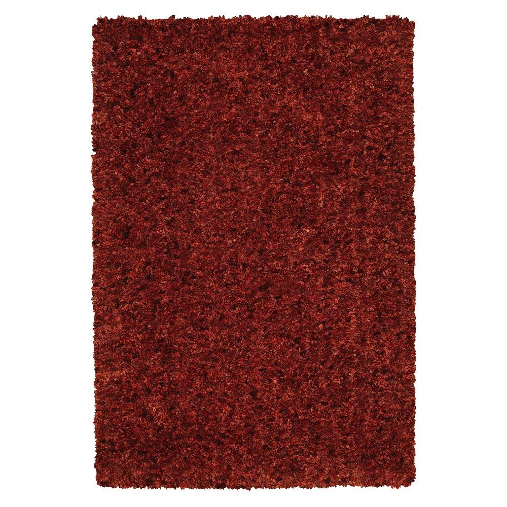 5'x7'6 Dream Supersoft Shag Area Rug Terra Cotta (Red) - Addison Rugs