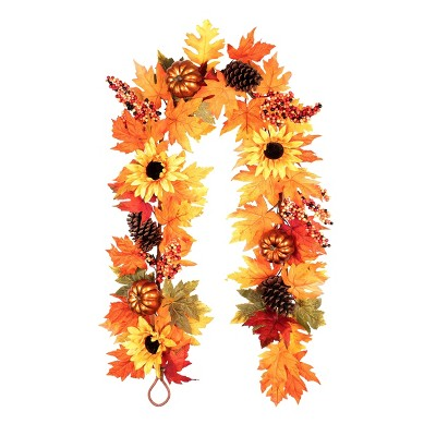6ft Sunflower Artificial Garland - Haute Décor