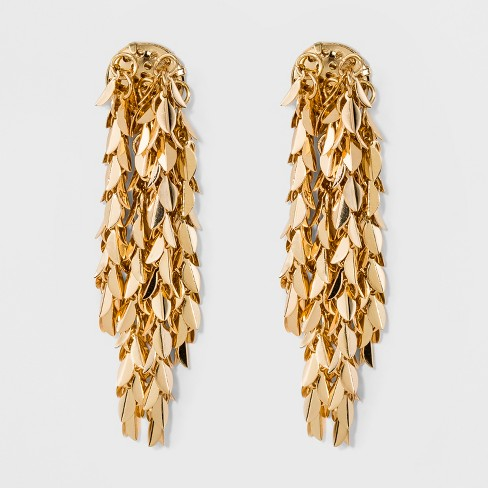 Cluster Drop Earrings - A New Day™ Gold - image 1 of 3