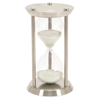 "New Traditional Iron and Glass 60-Minute Hourglass (12"") - Olivia & May"