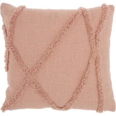Life Styles Distressed Diamond Throw Pillow Blush - Nourison