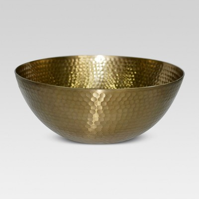 Small Serving Bowl Metal Hammered Gold - Threshold™