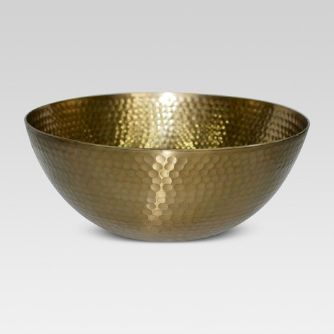 Small Serving Bowl Metal Hammered Gold - Threshold™ - image 1 of 2