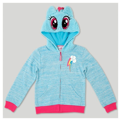3f5ce635620 Girls  My Little Pony Rainbow Dash Costume Hoodie - Turquoise   Target