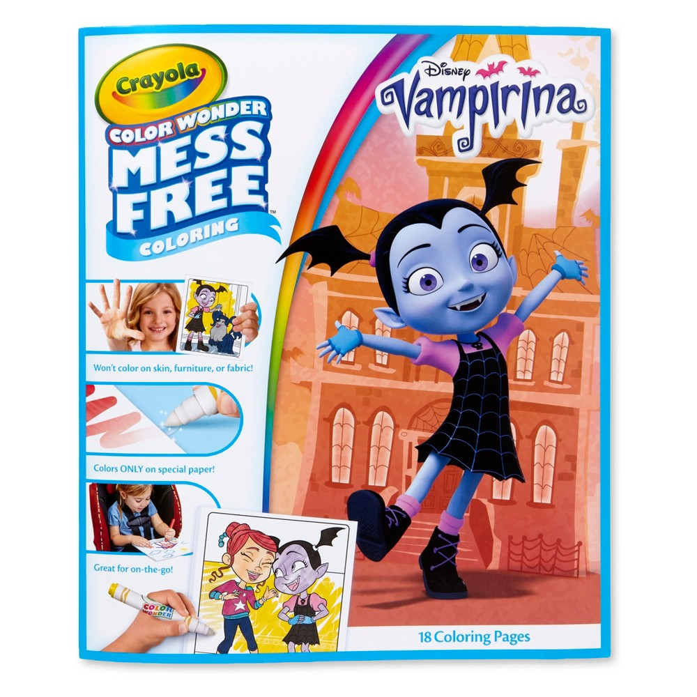 Image of Crayola 18pg Color Wonder Vampirina Mess Free Coloring Book