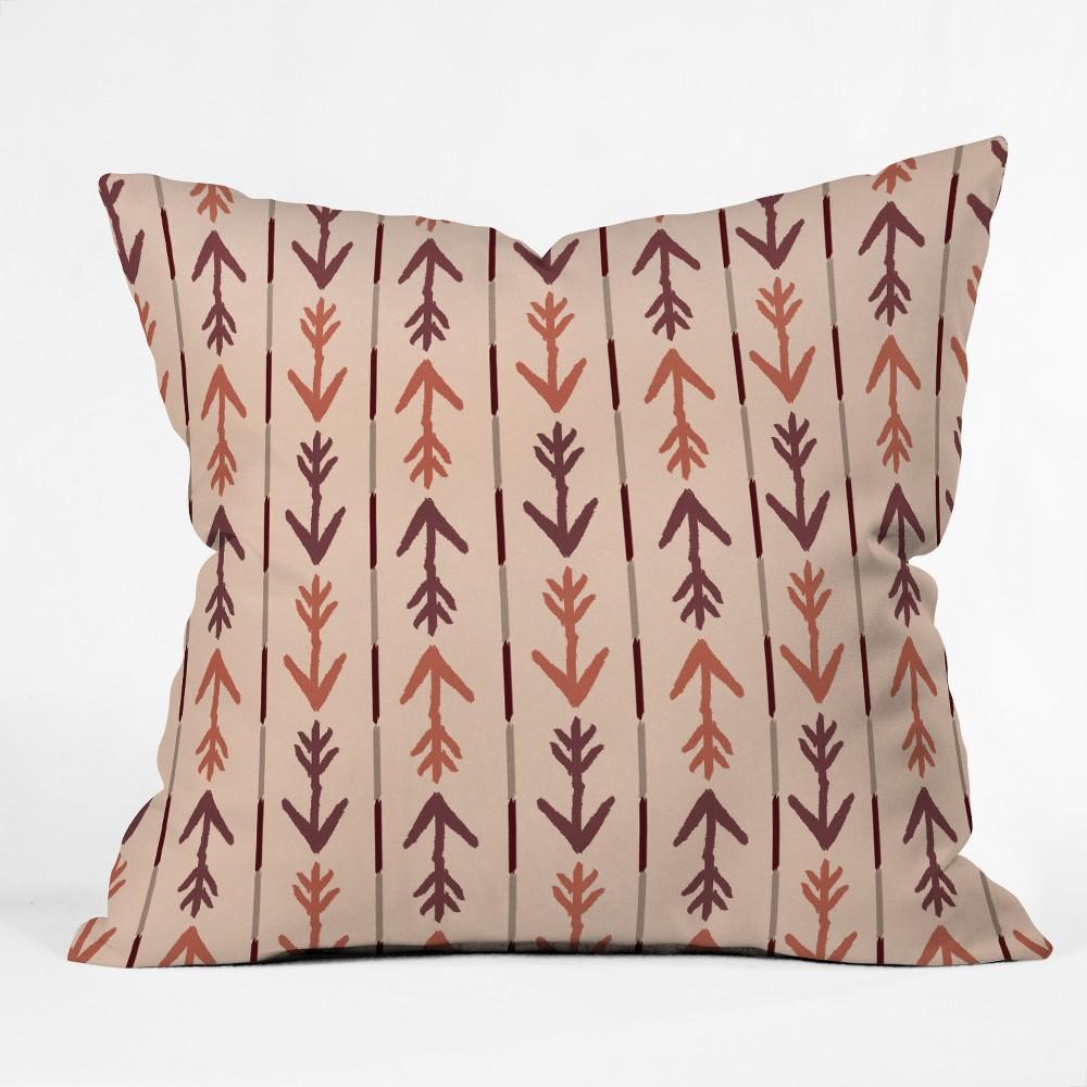 Allyson Johnson Bohemian Marsala Oversize Square Throw Pillow Red - Deny Designs