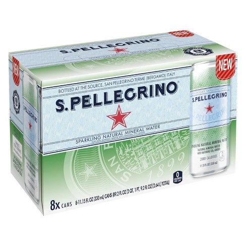 S. Pellegrino Sparkling Natural Mineral Water - 8pk/11.1 fl oz Cans - image 1 of 4