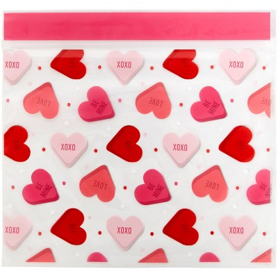 Wilton 20ct Red Hearts Resealable Treat Bags