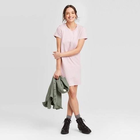 Women's Short Sleeve T-Shirt Dress - Universal Thread™ Lilac S