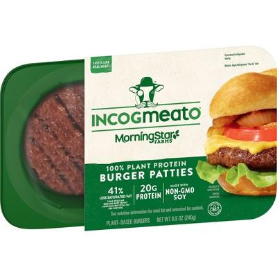 Morningstar Farms Incogmeato Frozen Plant-Based Burger - 8.5oz/2ct