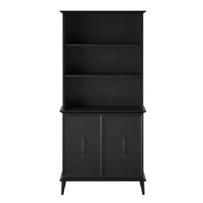 Tolland Bookcase with Doors Black - Room & Joy