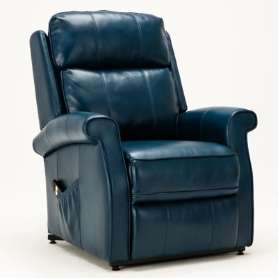 Lehman Navy Blue Traditional Lift Chair - Comfort Pointe