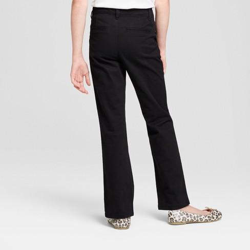5f627ed484a Girls  Bootcut Twill Uniform Chino Pants - Cat  ...   Target