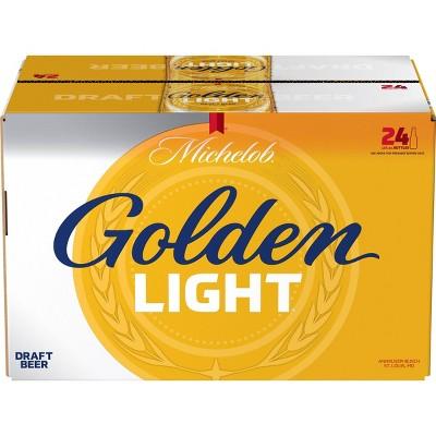 Michelob Golden Light Draft Beer - 24pk/12 fl oz Bottles