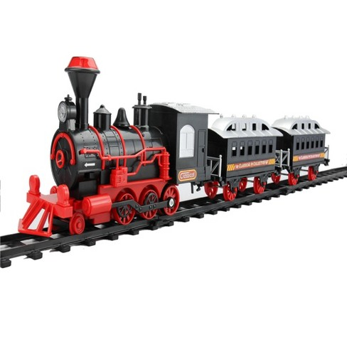 Northlight 13-Piece Red and Black Battery Operated Lighted and Animated Train Set with Sound - image 1 of 4
