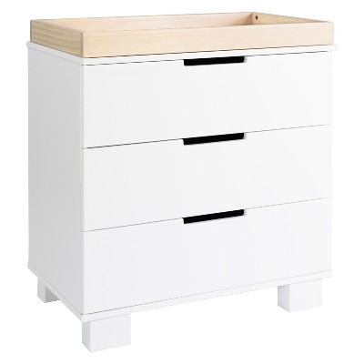Babyletto Modo 3-Drawer Changer Dresser - White/Washed Natural