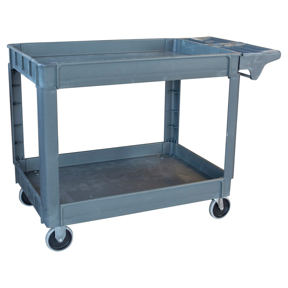 "Image of ""45"""" 550 Lbs Capacity 2 Shelf Heavy Duty Utility Cart - Gray - Pro-Series, Size: 45 Inch"""