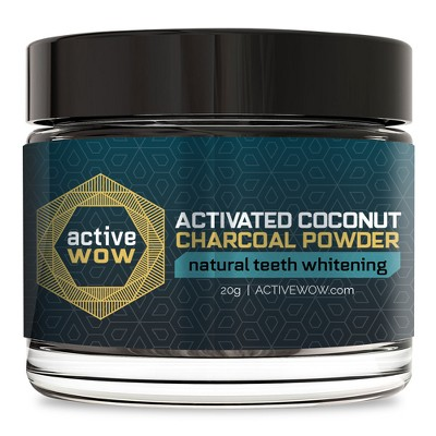 Whitening Strips & Gel: Active Wow Activated Coconut Charcoal Powder