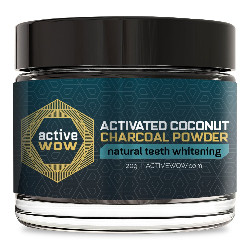 Image of Active Wow Activated Coconut Charcoal Powder Natural Teeth Whitening - 20g