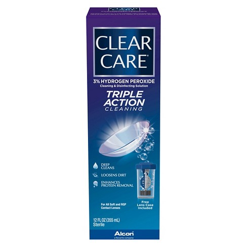 Clear Care Triple Action Cleaning and Disinfecting Solution - image 1 of 2