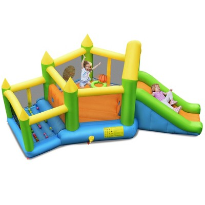 Costway Inflatable Slide Bouncer Ball Pit Basketball Dart Game Without Blower