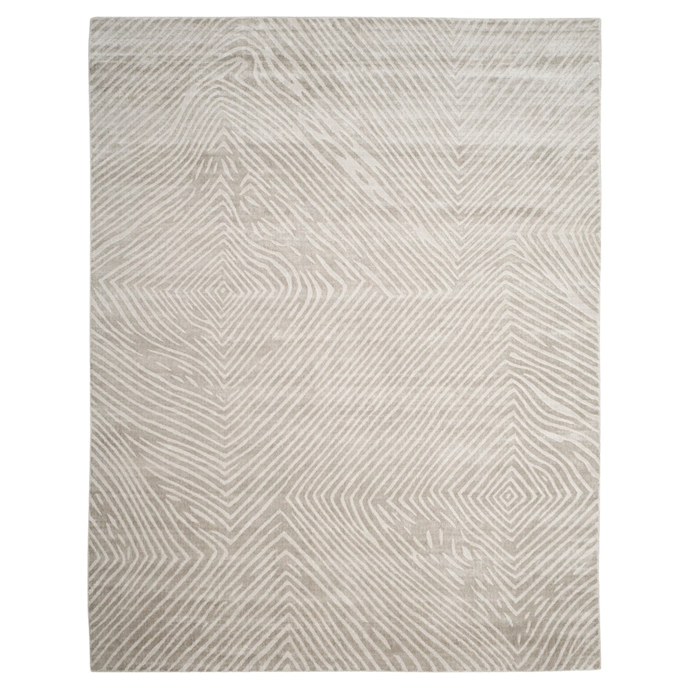 Light Gray Shapes Woven Area Rug 9'x12' - Safavieh