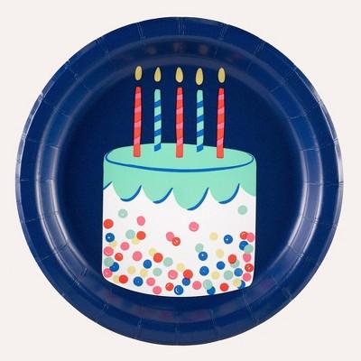 10ct Everyday Happy Birthday Snack Plate - Spritz™