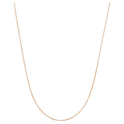 """Adjustable Box Chain In 14k Rose Gold Over Silver - 16"""" - 22"""""""